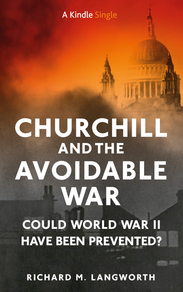 Churchill and the Avoidable War (book cover)