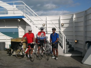 "Langworth, Birtzen, McCardy leaving ""Island Link"" to bicycle Long Island."