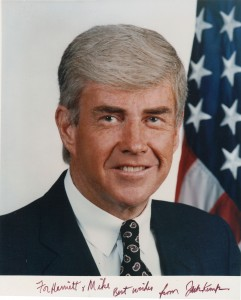 Jack Kemp, a photo inscribed to my late parents, Harriet and Michael Langworth, 1993.