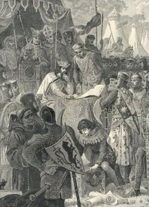 King John signs Magna Carta (Wikipedia Commons)