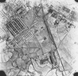 Aerial photograph of Auschwitz, December 1944.