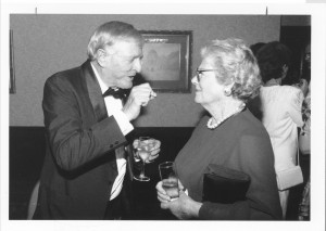 William F. Buckley, Jr. recalling her father's speeches with Churchill Centre Patron Lady Soames, International Churchill Conference, Copley Plaza, Boston, November 1995.