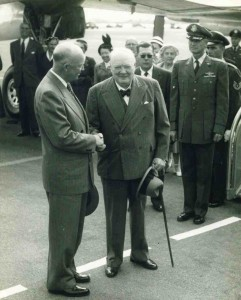 Meeting Eisenhower at Bermuda, November 1953.