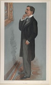 George Denison Faber CB DL (1852-1931), First Baron Wittenham, 1918, Conservative MP 1900-18. Caricature from Vanity Fair, 1900.