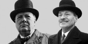 Churchill and Clement Attlee