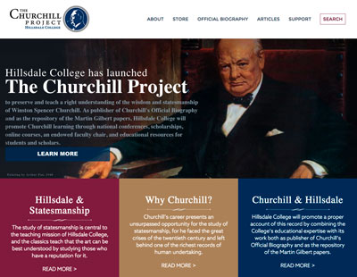 Hillsdale College's Churchill Project