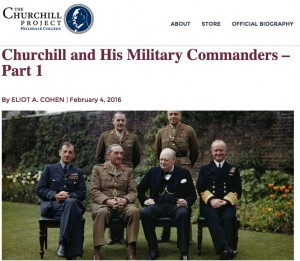Churchill and his military commanders.
