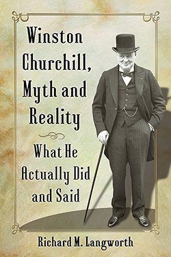 Winston Churchill, Myth and Reality (book cover)